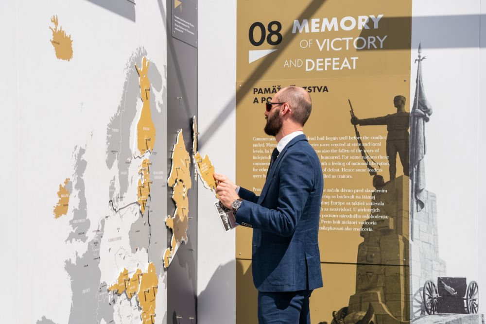 After the Great War. A New Europe 1918-1923 exhibition in Bratislava, 4-22 July 2019. Photo: Agnieszka Wanat.