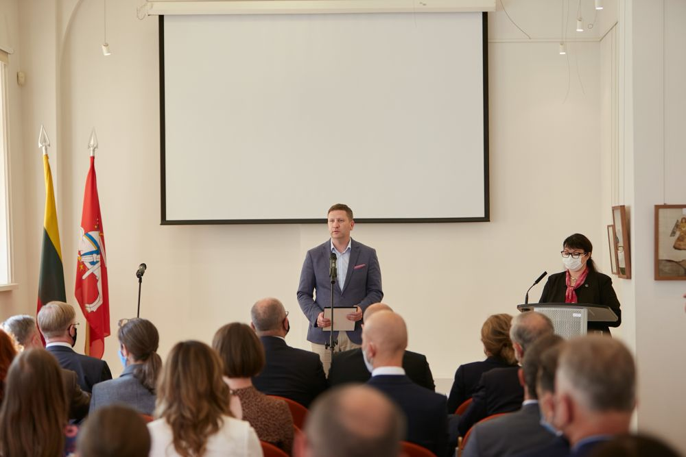 Lithuanian Minister of Culture Mr. Simonas Kairys. Photos: Bartosz Frątczak