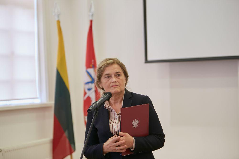 Mrs. Urszula Doroszewska (Ambassador of the Republic of Poland in Vilnius). Photo: Bartosz Frątczak