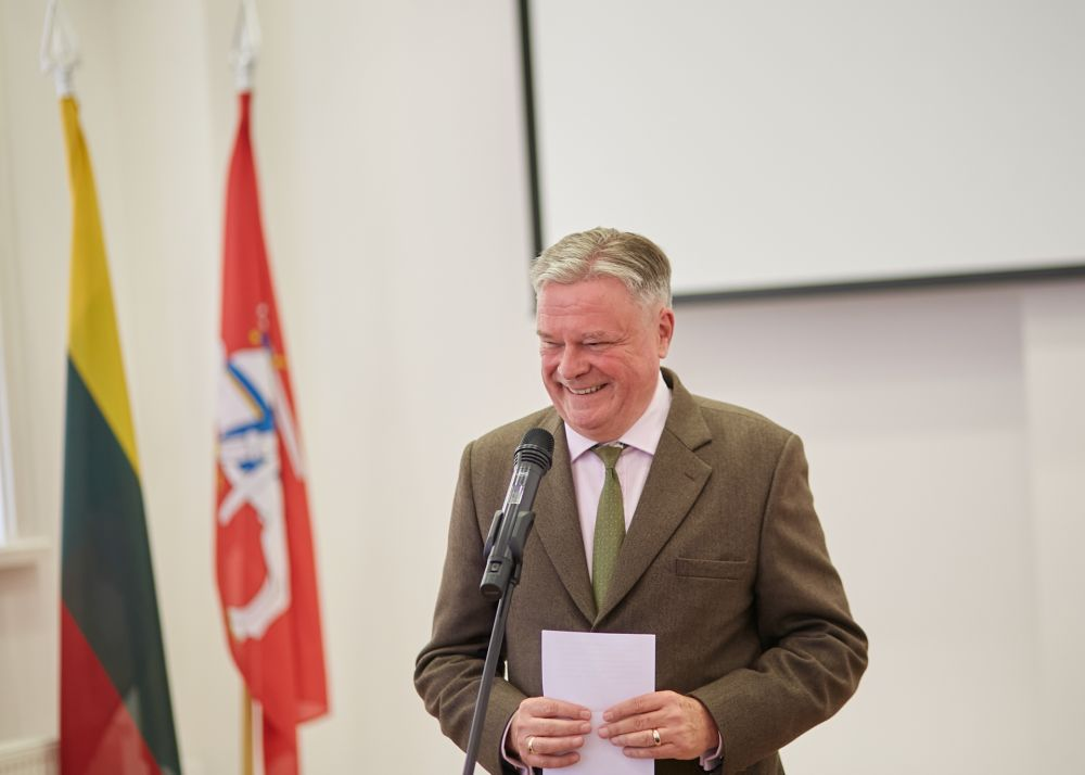 Mr. Matthias Sonn (Ambassador of the Federal Republic of Germany in Lithuania). Photos: Bartosz Frątczak