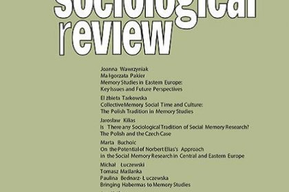 cover image of Polish Sociological Review, no.3, Memory Studies in Eastern Europe: Key Issues and Future Perspectives