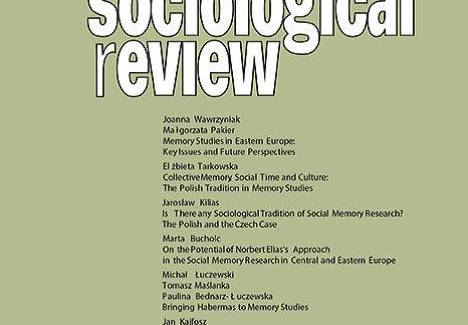 Photo of the publication Polish Sociological Review, no.3, Memory Studies in Eastern Europe: Key Issues and Future Perspectives