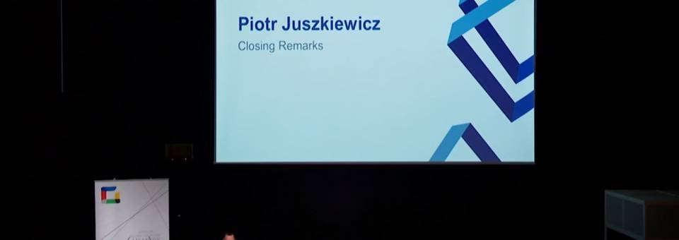 Photo of the publication Closing remarks at the Image, history and memory conference: Piotr Juszkiewicz