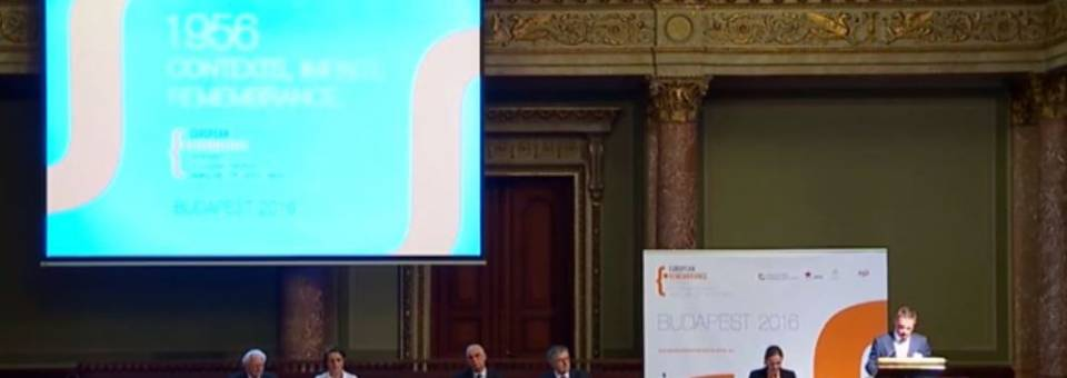 Photo of the publication European Remembrance Symposium, Budapest 2016: Introduction and Opening Letters