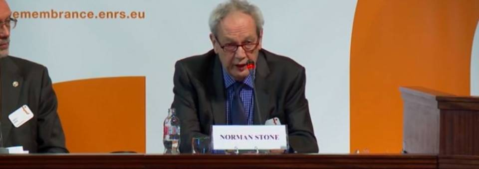 Photo of the publication European Remembrance Symposium, Budapest 2016: Norman Stone (closing lecture)