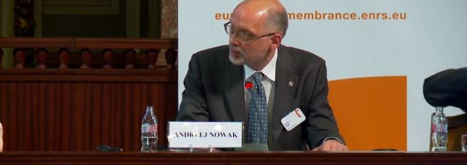 Photo of the publication European Remembrance Symposium, Budapest 2016: Andrzej Nowak (closing lecture)