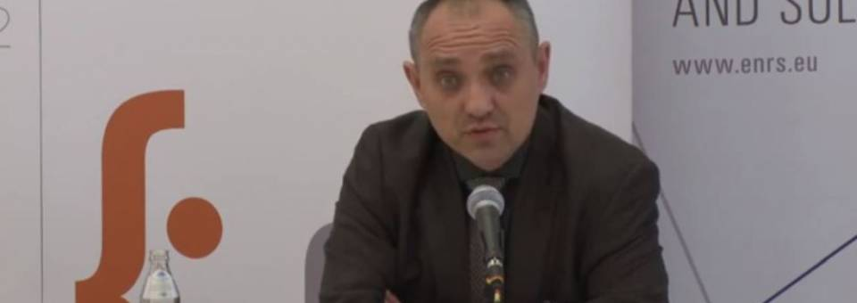 Photo of the publication Marcin Zarembas introduction to the discussion The Second World War and Art