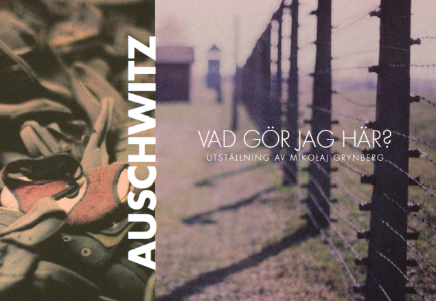 'Auschwitz. What am I doing here?' - Mikołaj Grynberg's exhibition in Swedish Riksdag